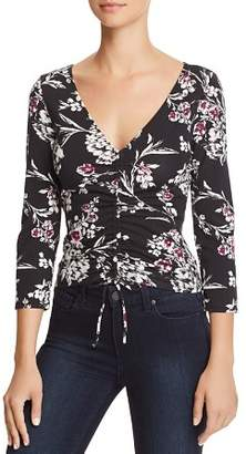 GUESS Erie Ruched Drawstring Floral Top