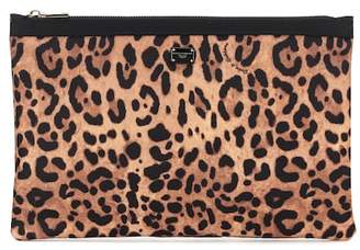 Dolce & Gabbana Leopard print cosmetics bag