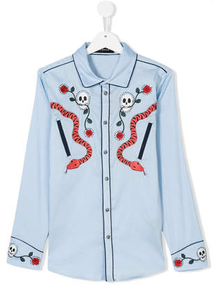 John Richmond Kids Heavenly embroidered shirt