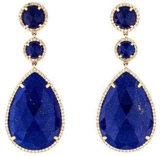 Lapis 14K Lazuli & Diamond Drop Earrings