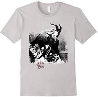 Disney Beauty & The Beast Grungy Black& Graphic T-Shirt