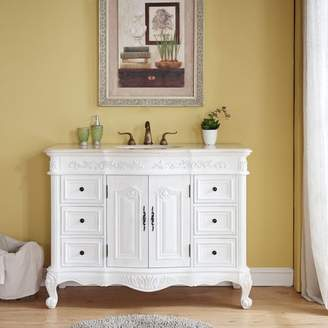 "Astoria Grand Haslett 48"" Single Bathroom Vanity Set Top"