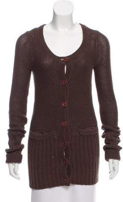 Marc by Marc Jacobs Leather-Accented Knit Cardigan