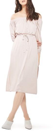 TopshopWomen's Topshop Bardot Blouson Midi Dress