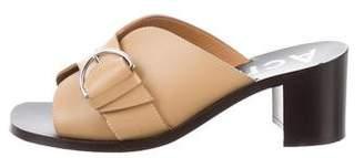 Acne Studios Leather Buckle Sandals