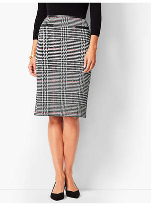 Talbots Ponte Glen Plaid Pencil Skirt