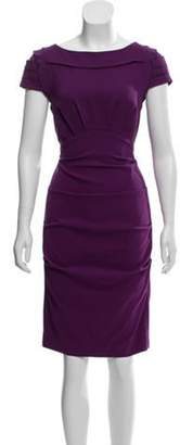 Nicole Miller Silk Knee-Length Dress Purple Silk Knee-Length Dress