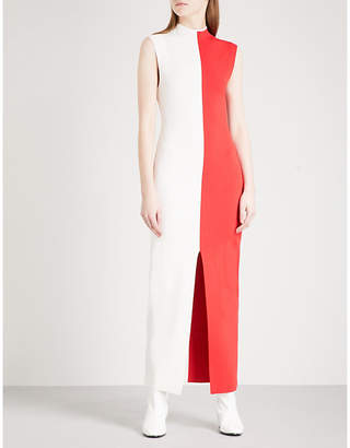 SOLACE London Colourblock knitted maxi dress