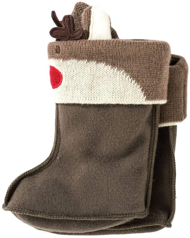 JoJo Maman Bébé Wellie Liners Reindeer Rain Boots
