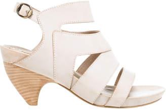 Max Studio manila waxed leather curved heel sandals