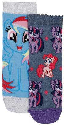 Character My Little Pony - Pack Of Two Girls' Multi-Coloured 'My Little Pony' Socks
