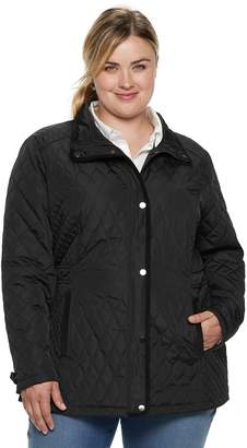 5531e68f433 Plus Size Sebby Collection Quilted Barn Jacket