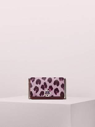 Kate Spade Nicola Haircalf Twistlock Chain Wallet, Purple