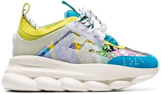 Versace multicoloured Chain Reaction leather sneakers