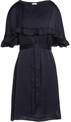 Claudie Pierlot Cape-Effect Ruffled Crepe De Chine Dress