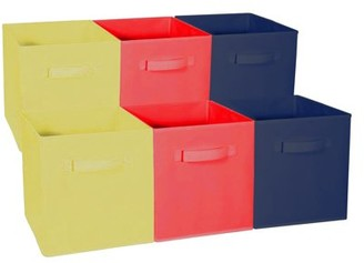 Sorbus Home Storage Bundle - Drawer and Closet Bins,Yellow, Red, Navy (6 Pack)