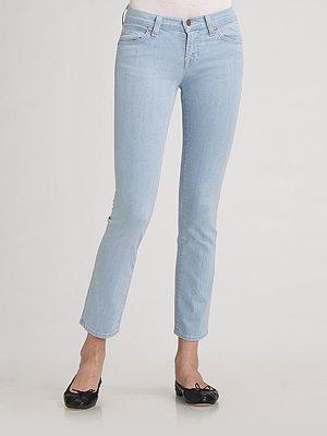 J Brand Cropped Pencil-Leg Jeans