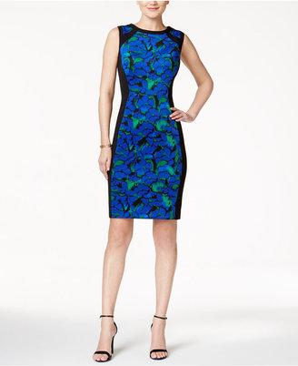 Kasper Floral-Print Sheath Dress $89 thestylecure.com