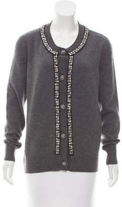 Chanel Cashmere Embellished Cardigan