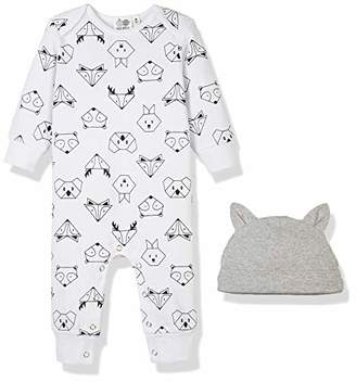 Silly Apples Pure Cotton Baby Boys Girls Long-Sleeve Romper Jumpsuit Onesies and Hat Outfit Set ()