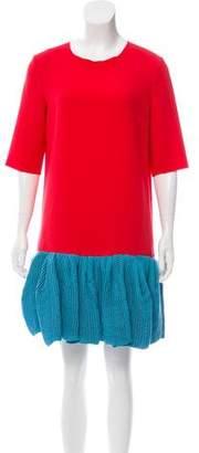 Roksanda Colorblock Short Sleeve Dress