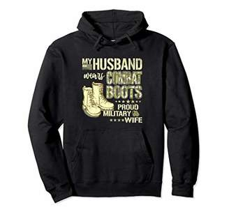 My Husband Wears Combat Boots Proud Military Wife Hoodie