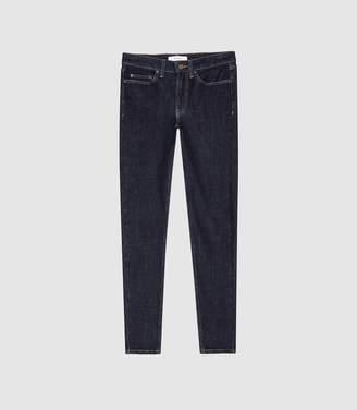 Reiss Skye - Bi-stretch High Rise Skinny Jeans in Mid Blue
