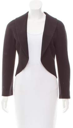 Agnona Virgin Wool Open Front Jacket