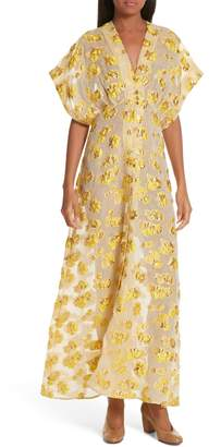 Rachel Comey Tendril Floral Fil Coupe Organza Maxi Dress