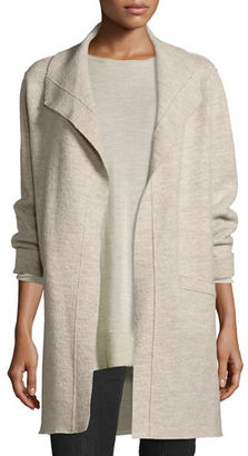 Eileen Fisher Boiled Wool Funnel-Neck Coat $398 thestylecure.com