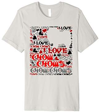 I Love Chow Chows - Word Cloud Chow Chow T Shirt 2