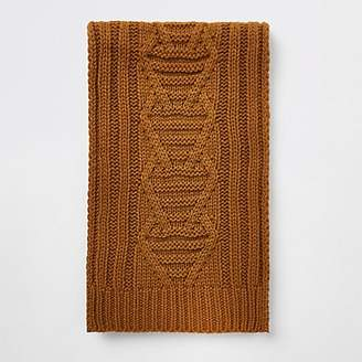 River Island Yellow cable knit scarf
