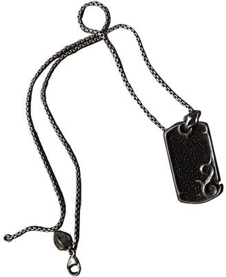Stephen Webster Sterling Silver Onyx Black & Silver Dogtag Necklace
