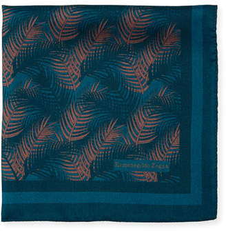 Ermenegildo Zegna Palm Leaves Silk Pocket Square