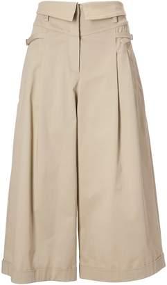 Alberta Ferretti Flared Cropped Trousers