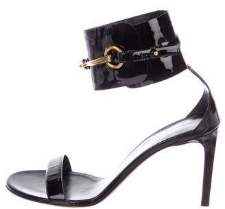 Gucci Horsebit Ankle Cuff Sandals