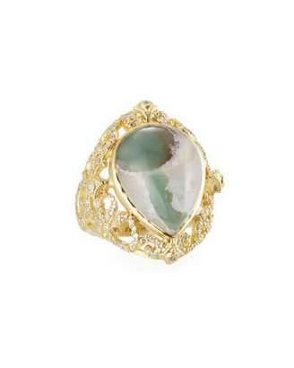 Armenta Sueno Aquaprase & Diamond Scroll Ring