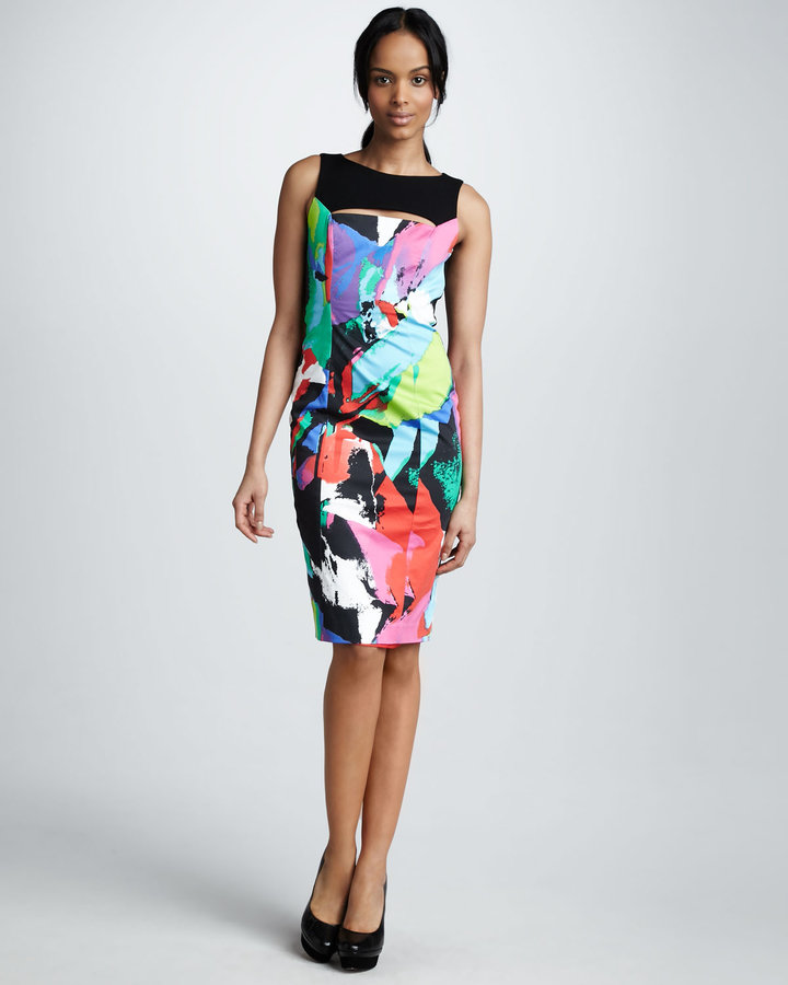 Black Halo Ritter Printed Dress