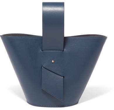 Carolina Santo Domingo - Amphora Mini Leather Tote - Navy