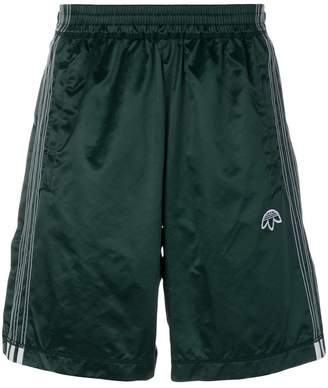 adidas By Alexander Wang logo embroidered track shorts