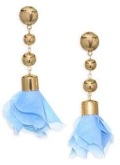 Ettika 18K Goldplated Flower Petal Drop Earrings