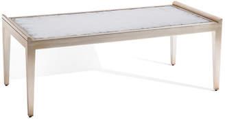 John-Richard Collection Art Deco Églomisé Coffee Table - Pewter/Mirrored