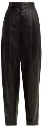 Joseph Linn Leather Trousers - Womens - Black