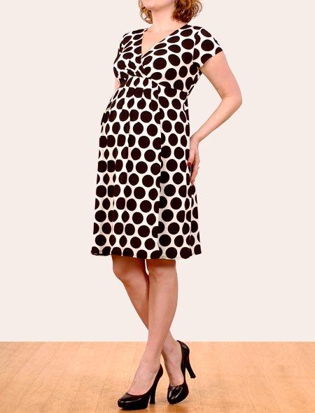 Short Sleeve Faux Wrap Maternity Dress