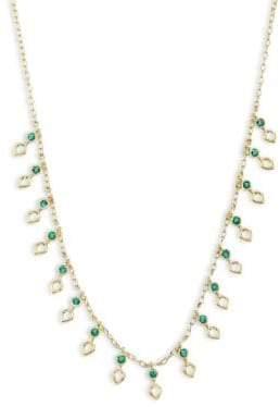 Ila Ameli Emerald& 14K Yellow Gold Necklace