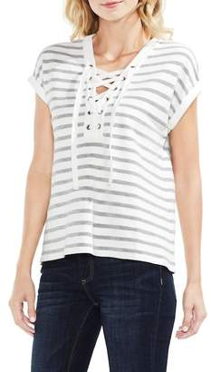 Vince Camuto Loop Stitch Lace-Up Top