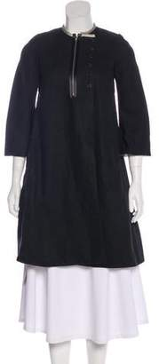 Derek Lam Linen Knee-Length Coat