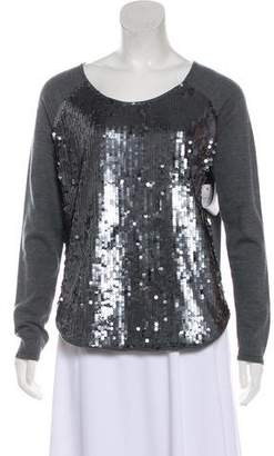 Milly Embellished Wool Sweater