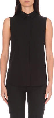 Theory Tanelis sleeveless silk shirt