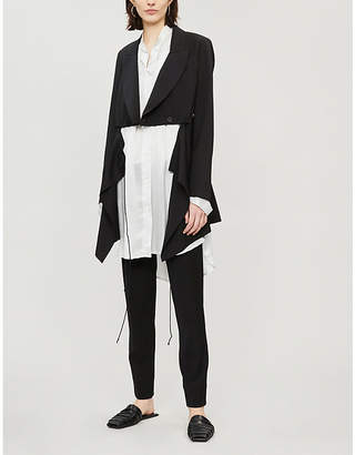 Isabel Benenato Laced wool jacket